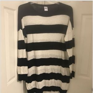 ASOS Vero Moda Black White Striped Sweater Tunic